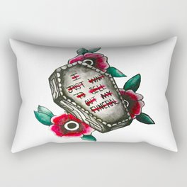 Funeral Tattoo Print Rectangular Pillow
