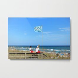 Overseers At The Beach Metal Print