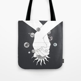 Everything Revolves Around Us II Tote Bag