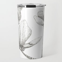 Bird and magnolia Travel Mug