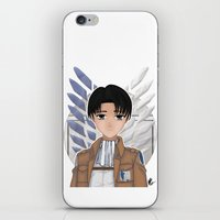 levi iPhone & iPod Skins featuring Levi Rivaille by Larkee Beatz
