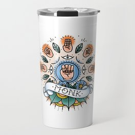 Monk - Vintage D&D Tattoo Travel Mug