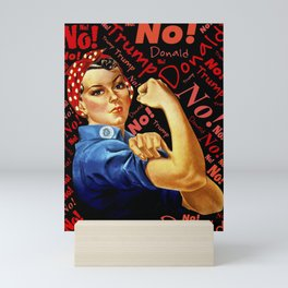 Women Against Trump (Rosie the Riveter) Mini Art Print