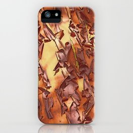 A STUDY OF MADRONA BARK iPhone Case