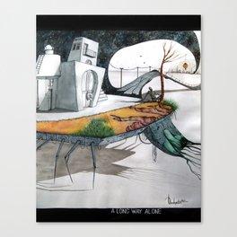 A long way alone. Canvas Print
