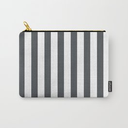 Grey and white stripes Carry-All Pouch