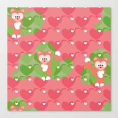 Foxes in the Strawberry patch Canvas Print