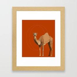 Camel Moon Framed Art Print