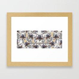 T.F TRAN MULTICOLOUR BUTTERFLY IRIS Framed Art Print