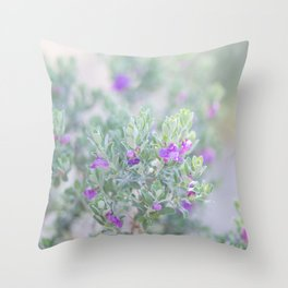 Sage in the desert Throw Pillow