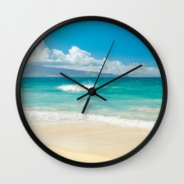 Hawaii Beach Treasures Wall Clock