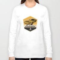 lamborghini Long Sleeve T-shirts featuring Lamborghini Miura by Liviu Antonescu