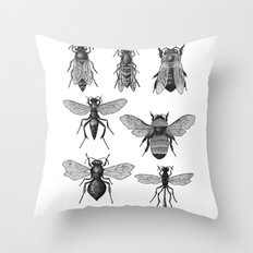 Bees and Wasp Throw Pillow