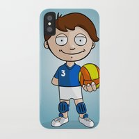 volleyball iPhone & iPod Cases featuring Volleyball player by Jordygraph