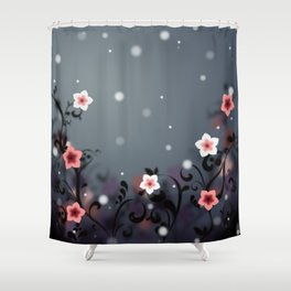 Pink and white flowers - Elegant Shower Curtain
