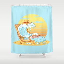 WAVE ON THE BEACH Shower Curtain