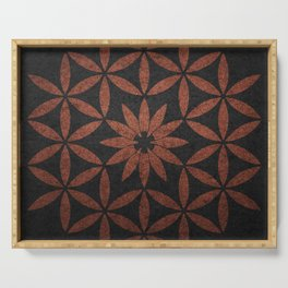 The Flower of Life - Ancient copper Serving Tray