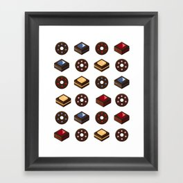 Mouth Watering Donuts and Cakelicious Framed Art Print