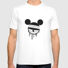 Mickey MEDIUM White Mens Fitted Tee