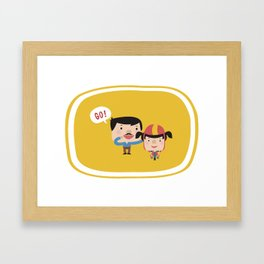 Let's Go! (Yellow Tales Series #3) Framed Art Print