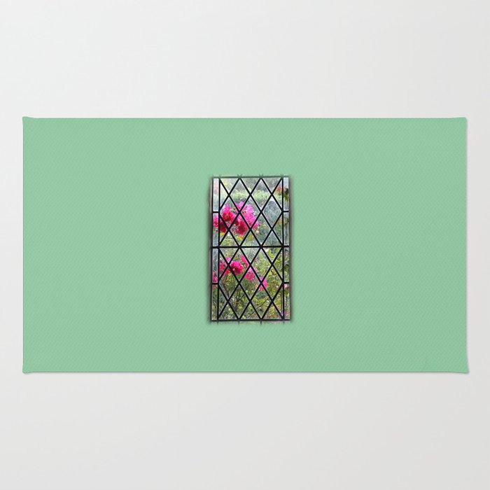 Stained glass window by nature Rug