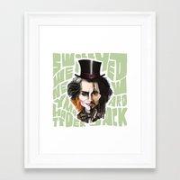 johnny depp Framed Art Prints featuring Johnny Depp by Owen Ballesteros