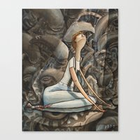 ripley Canvas Prints featuring Ripley - Aliens by Patt Kelley
