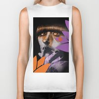 "karen hallion Biker Tanks featuring ""Karen O"" by Samy Vincent"