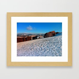 Hiking through winter wonderland II | landscape photography Framed Art Print