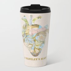 A Traveler's Heart Metal Travel Mug