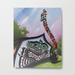 Mungo Martin House Metal Print