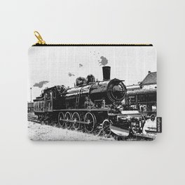 Riding the Rails - Vintage Steam Train Carry-All Pouch