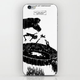 Pigs are not vegetarians iPhone Skin