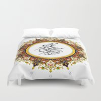 persian Duvet Covers featuring Persian Calligraphy by BeyondPersia