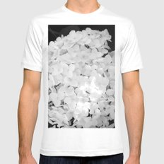 White MEDIUM Mens Fitted Tee White