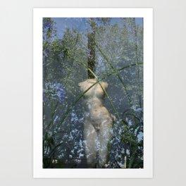 Green Reflex Art Print