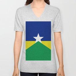 Flag of Rondonia Unisex V-Neck