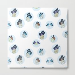 Hampster Butterflies Metal Print