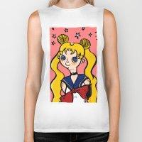 sailormoon Biker Tanks featuring Sailormoon! by poetickles