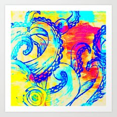 Colorful Octopus Art Print