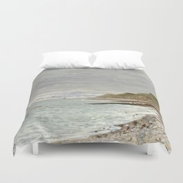 La Pointe de la Hève, Sainte-Adresse by Claude Monet Duvet Cover