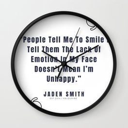 20  |  Jaden Smith Quotes | 190904 Wall Clock