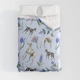 GREYHOUND  DOGS & BLUE MEADOW Comforters