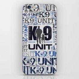 K-9 Unit  -Police Dog Unit iPhone Skin