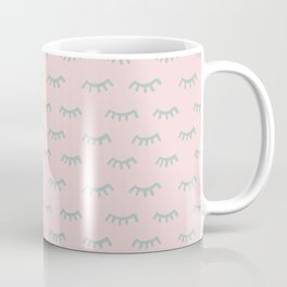 Small Pink Sleeping Eyes Of Wisdom - Pattern - Mix & Match With Simplicity Of Life Coffee Mug