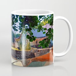 Nature, a river and colorful reflections   waterscape photography Coffee Mug