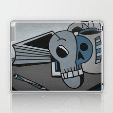 Skull, Book and Coffee Laptop & iPad Skin