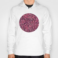 damask Hoodies featuring Damask Pattern 01 by Aloke Design