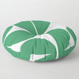 Mid Century Modern Green Square Floor Pillow