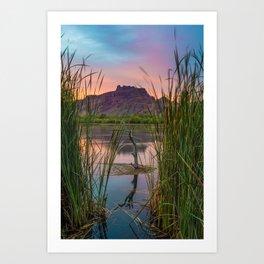 Pastel Evening Art Print